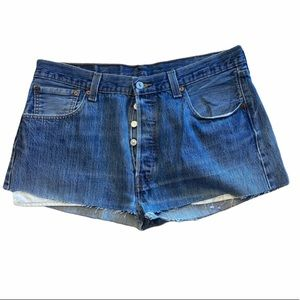 Levi's 501 button fly high rise cutoff shorts